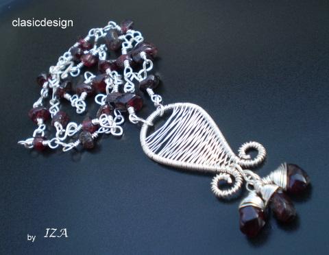 bijuterii iza clasicdesign-handmade-granate