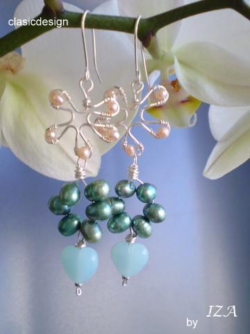 cercei perle naturale-cherry blossom